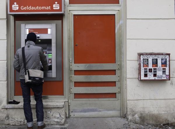 Man at ATM