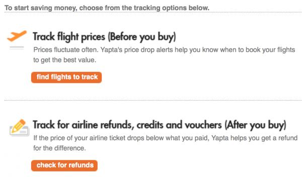 Yapta: airfare tracker