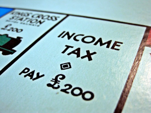 Monopoly's Income Tax Space: Pay ₤200