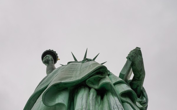Statue of Liberty - worm's eye view
