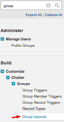 Salesforce: Setup Group Layouts