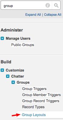 Salesforce: Setup Group Layouts