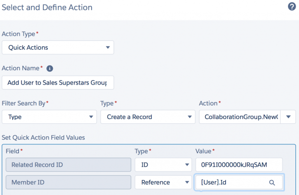 Salesforce: Process Builder — Quick Actions for Adding New Users to Group
