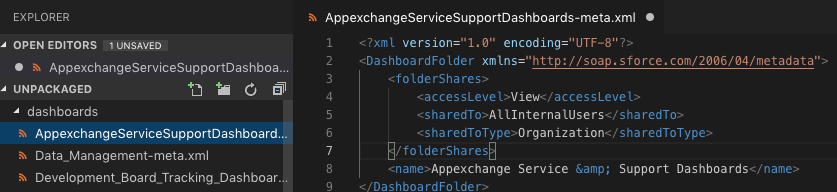 VS Code: XML for Folder Permissions